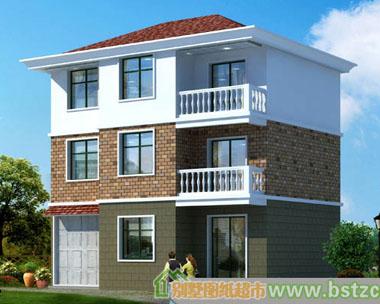 别墅图纸超市 303三层农村自建房住宅小别墅完整设计图纸 1